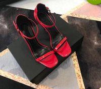 vente de sandales en robe en cuir achat en gros de-Vente chaude-2018 femmes parti Chaussures Talons Hauts Talons Hauts noir En Cuir Véritable Bout Pointu Pompes Habillées Lettre Talons Sandales