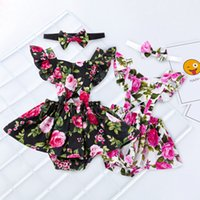 Wholesale 3pcs clothes for sale - Newborn Kids Baby Girl Sister Matching Summer Clothes Ruffle Sleeve Tops Strap Bow Floral Shorts Headband Sets Outfits Y