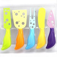 Wholesale metal cheese knife set for sale - Group buy Metal Arsmundi New Set Cheese Knife Set Cheese Fork Butter Knife MUti color Cheese Cutter Kitchen Cooking G
