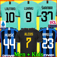 Wholesale football jersey milan resale online - LUKAKU LAUTARO ALEXIS ICARDI Inter milan soccer jersey PERISIC SKRINIAR GODÍN DE VRIJ football shirt uniforms men kids kit
