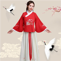 Wholesale performance clothing for singers online - New Ancient ethnic clothing Hanfu Lady Fairy princess Dress Film TV Performance Costume For Women Stage wear fancy Costume For singers