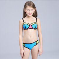 Wholesale bikinis 12 years for sale - Group buy Girls Bikini Children Swimsuit Patchwork Swimwear for Teenage girl Years kids two pieces bathing suits