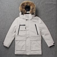 3e07de9d665a Luxury Mens Fashion Down Jacket Men Winter Coat Wellensteyn Goose Feather  Parka Real Fur Hood Puffer Man Casual Jackets
