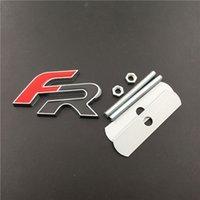 mitsubishi chrome оптовых-Заменили Авто 3D Chrome Цинковый Сплав FR Гриль Эмблема Значок Наклейки Для Mitsubishi Ford Гриль Автомобилей