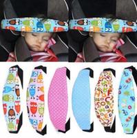 nouvelle poussette rose achat en gros de-Nouveau bébé réglable tête de soutien poussette Siège d'auto fixation de ceinture de sécurité Sangle sommeil voiture de sécurité Siège sommeil positionneurs CCA9437 100pcs