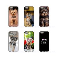 iphone hund harte fall großhandel-Yorkshire Terrier Puppy Dog Hülle für Apple iPhone X XR XS MAX 4 4S 5 5S 5C SE 6 6S 7 8 Plus ipod touch 4 5 6