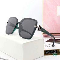 lindos óculos de sol venda por atacado-Mulheres bonitas Designer de Óculos De Sol De Luxo Óculos De Sol Adumbral Óculos De Proteção Da Marca UV400 Óculos De Sol Modelo 9923 5 Cores de Alta Qualidade com Caixa
