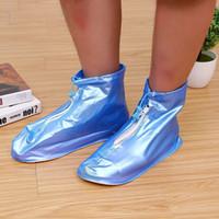 ingrosso le scarpe impermeabili coprono le donne-Uomini e donne scarpe parapioggia casa scarpe impermeabili copertura stivali da pioggia stivali antiscivolo ispessimento pioggia coprono all'ingrosso