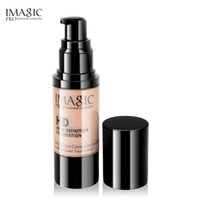 Wholesale moisturizing liquid foundation for sale - Group buy Drop ship IMAGIC Professional Whitening Moisturizing oil control HD Liquid Foundation Concealer Highlight Shadow Makeup ml BB cream