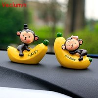 Wholesale monkey decoration dolls for sale - Group buy Car Ornaments Fashion Cartoon Love Banana Monkey Doll Automobile Dashboard Decoration Cute Car Interior Accessories Craft Gift