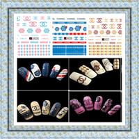logotipo japonês venda por atacado-5sheet Marca LOGO japonês prego água bonés Art Nail decalques das etiquetas Maquiagem Tatuagens DIY Água Manicure A421-432