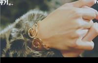 ingrosso uomo braccialetti moderni-Corea odissea coreana dramma 2018 tendenza uomini e bracciale da donna, colore dorato, marca Modern guys, marchio Couples and Lovers