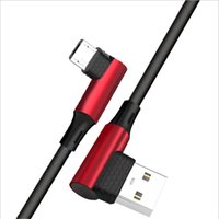 Wholesale micro usb charger double resale online - Newest durable Degree Double Elbow Charger Sync Data Cable Android Micro USB Cable Type USB C Charging Cables car