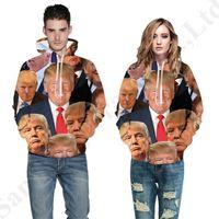 3d bluz toptan satış-3D Donald Trump 2020 Hoodies Kadın Erkek Trandy Kapşonlu Tişörtü Bluz Kazak Tops Çift Maç Giysi Hip Hop Dış Giyim S-5XL C82303