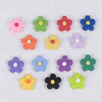 el kili toptan satış-Polimer Kil Küçük Çiçek Yama Kulak Takı Malzeme Ins çocuk Eğlenceli Renk Renkli El Yapımı Yumuşak Kil DIY El yapımı takı Aksesuarları