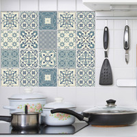 Wholesale tile backsplash for kitchens for sale - Group buy Self adhesive Moroccan Tile Wall Sticker PVC Oil proof Waterproof for Home Kitchen Bathroom Kitchen Backsplash Moranti style