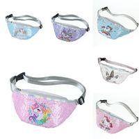 Wholesale fanny packs women resale online - Unicorn Sequins Waist Bag Mermaid Love Belt Fanny Pack Beach Bag Student Teenager Purses Sports Unisex Gym Outdoor Women Cosmetic Bags