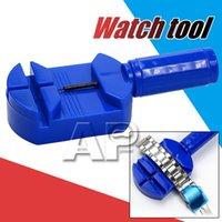 ingrosso orologi universali-I più venduti nuovi strumenti di riparazione di orologi per la riparazione dell'orologio di rimozione del cinturino in plastica blu portatile mini per cinturino bracciale