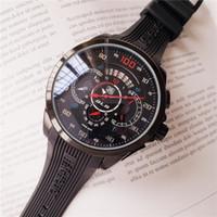 kronometre su geçirmez saat toptan satış-ETIKETI izle Çalışma saniye kuvars hareketi çapı 44mm Kol marka adam Izle Lüks su geçirmez 2019 kronometre kronograf Saatı