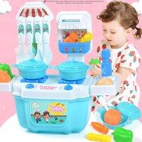 iq oyuncakları toptan satış-1 Takım Çocuk Kız Erkek Oyuncak Rol Oynamak Evi Mini Yaşam Simülasyon Mutfak Sofra Tencere Eşyaları için Bebek IQ Geliştirme