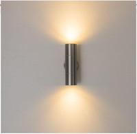 abajo luces inoxidables al por mayor-Lámpara de pared Led de acero inoxidable Lámpara de pared Led de exterior Luz de pórtico hacia arriba y hacia abajo con lámpara de soporte de 10W (Dos lados de 5W)