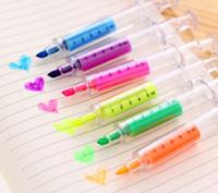 ingrosso evidenziatore fluorescente principale-Carino novità infermiera ago della siringa a forma di evidenziatore Marker cancelleria della penna scuola regalo di accessori per la casa