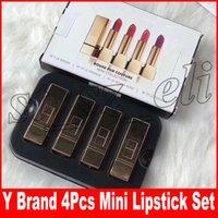 Wholesale mini lipsticks online - Famouse Brand Colors Lip Makeup Lipstick Set Rouge Pur Conture Matte Mini Collection Lipsticks kit