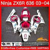 Wholesale lucky fairing resale online - Fairing For KAWASAKI NINJA ZX R ZX R NO ZX ZX600 lucky strike ZX636 ZX CC ZX R ZX6R Bodys