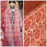 telas de hilo teñido al por mayor-117 cm Tela de brocado de seda china 38 mm tejido de seda teñida con hilo vestido material del vestido tela al por mayor