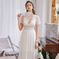 Wholesale bride suits dresses for sale - Group buy Robe Sweet Lace Sexy Nightgown Woman Princess Robes Suit Soft Robe set Bride Set Long Sleepwear Dress