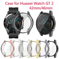 Wholesale huawei gt smartwatch for sale – best TPU Case for Huawei Watch GT mm mm Smartwatch Plating Full Protection Cover Shockproof Scratch proof Transparent Frame Shell