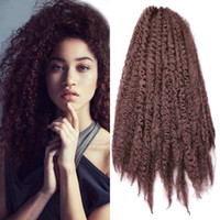 Wholesale afro extension synthetic hair resale online - Ho inch Ombre Marley Braids Hair Crochet Afro Kinky Kanekalon Synthetic Braiding Hair Crochet Braids Hair Extensions Bulk