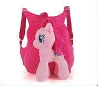 Wholesale pony girl cartoon for sale - Group buy 3D Cartoon Pony Backpack For Girls Kids School Bag Child Plush Backpacks Baby Schoolbag Cartoon Kids Satchel Mochila Infantil bags