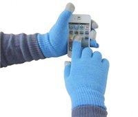 ipad para a venda venda por atacado-inverno colorido touch screen quente luvas tela capacitiva luva de algodão condutora Telefingers luvas para iphone x ipad Samsung nota 8 Venda