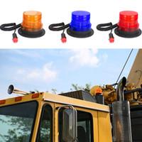 Wholesale car roof strobe lights resale online - Universal V V LED Car Roof Strobe Light Beacon Flashing Warning Light Auto Vehicle Truck Emergency Signal Lamp