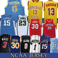 basketbol giyiyor toptan satış-NCAA 13 Harden 30 CURRY forması 15 CARTER James 0 Westbrdok Lillard Koleji 23 Michael Basketbol Takımı