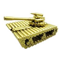 modelo de arte venda por atacado-Modelo de Tanque do exército Brinquedos Metal Escultura Presente-Falsa Bullet Tripas Tanque Modelo como uma Lembrança Artesanato Arte Decorativa