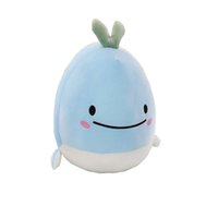 Wholesale whale plush toy for sale - Group buy New down cotton cute pet whale plush toy Marine animal series dolphin pillow new style ins Kawaii whale Shaped Pillow Cushion