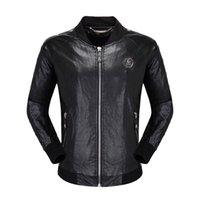 chaquetas de piel sintética biker al por mayor-el diseñador del mens cráneos de la chaqueta de imitación de piel Ropa de marca de moda hip hop abrigo de invierno casual de alta calidad chaqueta de motociclista hombre lujo tamaño M-3XL