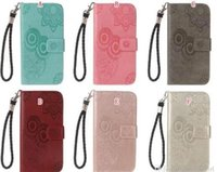 Wholesale smart card wallet for sale - Group buy Owl Wallet Leather Case For Samsung Galaxy A20E A60 A80 NOTE10 Pro S10 G Huawei P20 Lite P Smart Z Stand Flip Skin Cover Pouch
