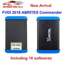 abrites renault al por mayor-DHL Free FVDI 2018 ABRITES Commander con 18 softwares cubre funciones completas de FVDI 2014 2015 igual que la herramienta de diagnóstico VVDI2