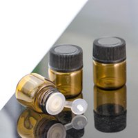 Wholesale new amber bottles resale online - New ml Essential Oil Glass Vial with Screw Cap Amber Perfume Glass Bottle eJUICE eLIQUID CC with Stopper