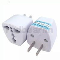 evrensel konektörler toptan satış-200 adet Seyahat Şarj AC Elektrik Güç İNGILTERE AU AB ABD Plug Adaptörü Dönüştürücü ABD Evrensel Güç Fiş Adaptador Bağlayıcı Yüksek kalite