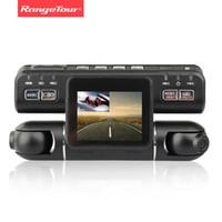 черный ящик для камеры оптовых-Автомобильный видеорегистратор с двумя объективами Автомобильный видеорегистратор видеокамеры рекордер i4000 Full HD 1080P 320 градусов 2.0LCD G-Sensor тире Cam черный ящик автомобиля