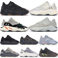 zapatos de la letra unisex n al por mayor-Utility Black Gum Bottom 700 Wave Runner Hombres Mujeres Zapatillas de deporte Nuevas 700 Kanye West Zapatillas deportivas con caja Stock X 36-46