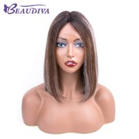 Wholesale peruvian hairpiece resale online - Ombre Colour Heat Wig Short Straight Hair Replacement Wigs Beautiful Hairpieces Fancy Dress Party Wig Short Bob Wigs Ombre Blonde