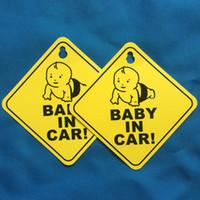 vinil çıkartma işaretleri toptan satış-Araba Sticker Bebek KURULU Uyarı Güvenlik Işareti Çıkartmalar Vinil Çıkartması Araba Styling için Vücut Kapı Pencere Sticker L