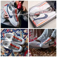 zapatos de deslizamiento al por mayor-2019 nike Kendrick Lamar x Cortez Slip Basic para mujer para hombre Zapatillas de correr, famosas zapatillas de deporte atléticas de diseño AV2950-100 Eur 36-44