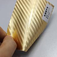 autocolantes internos do carro venda por atacado-folha de embrulho carro espelho envolver de película de cromo cobre bolhas livres etiqueta fibra de carbono 3D ar vinil película auto corpo interno externo