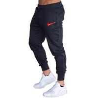 calça de carga marrom para homens venda por atacado-2019 New Men corredores moletom hip hop calças streetwear homens Track Pants Cotton Casual elásticas calças calças pantalon hombre